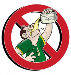 no drink vector image