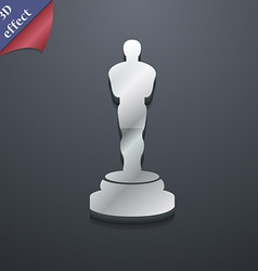 Oscar statuette icon symbol 3D style Trendy modern vector