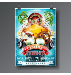Party Flyer design on a Casino theme vector image