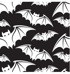 Pattern with bats vector