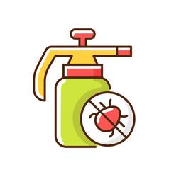 Pesticides rgb color icon vector
