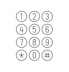 phone or calculator keypad smartphone interface vector image