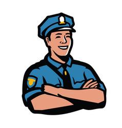 Police officer symbol policeman security guard vector
