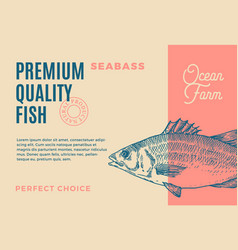 Premium quality seabass abstract fish vector