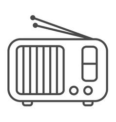 radio receiver linear icon vector image