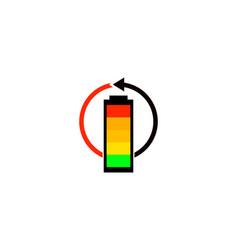 Recharge battery logo vector