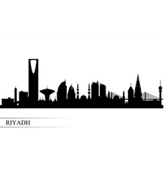 riyadh city skyline silhouette background vector image