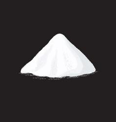 Salt pile white sugar powder heap vector