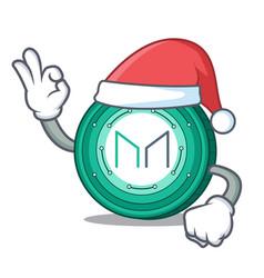 Santa maker coin mascot cartoon vector