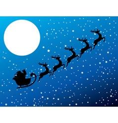 Santa stars moon vector