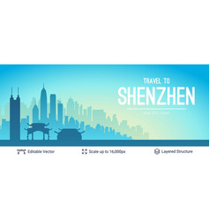 Shenzhen famous china city scape vector