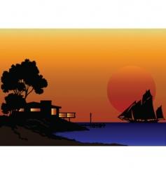shore line house vector image