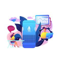 Smart speaker office controller concept vector