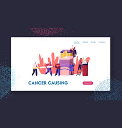 smokers and smoking addiction website landing page vector image