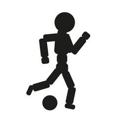 Soccer player man black icon vector