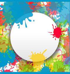 Splash paint ink abstract backdrop vector