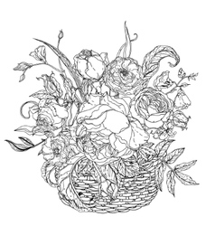 Still life coloring book antistress style picture vector