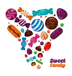 sweet candy concept vector image