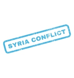 Syria Conflict Rubber Stamp vector