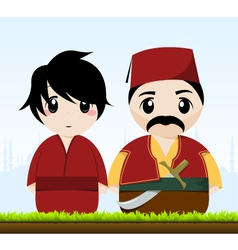 traditional couple vector image