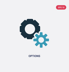 Two color options icon from social media vector