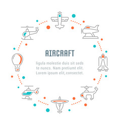 Website banner and landing page aircraft vector