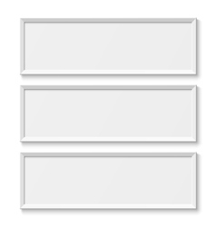 White picture frames isolated on white background vector image
