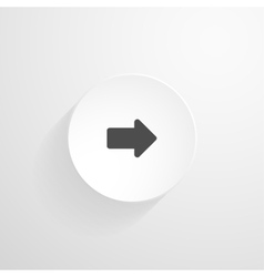 white round button Arrow icon vector image