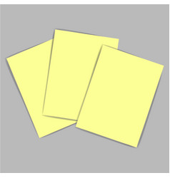 Yellow paper vector