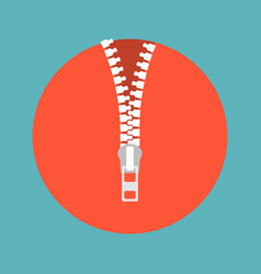 zipper icon vector image