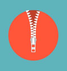 Zipper icon vector