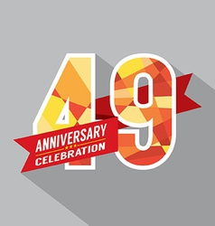 49th Years Anniversary Celebration Design vector image vector image