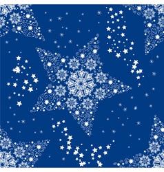 christmas seamless star vector image vector image