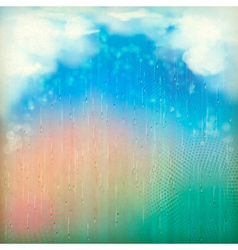 Colorful Rain Vintage Abstract Retro Background vector image