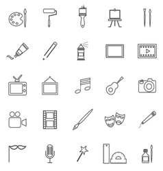 Art line icons on white background vector image