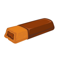 bar of chocolate with biscuit inside stuffed with vector image vector image