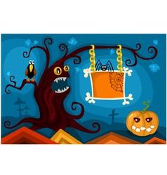 hallowen card set vector image