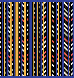 linear halloween pattern vector image vector image