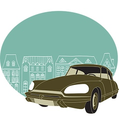 Old classic car vector image vector image