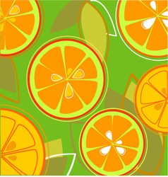 Orange Fresh Taste Eps vector image