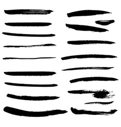 set of black ink stains vector image