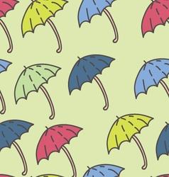 Summer rain umbrella pattern vector
