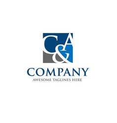 c and a letter logo design vector image vector image
