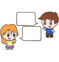 children talking vector image vector image