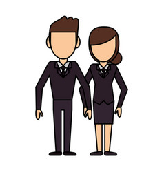 Couple people relationship faceless vector