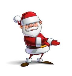 Happy Santa Showing vector image vector image