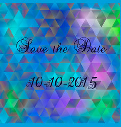 save the date for personal holiday vector image