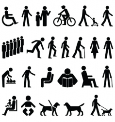 signage people vector image vector image