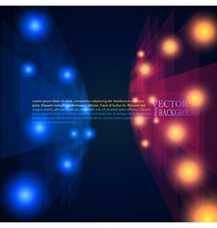 blue and red rays abstract mosaic perspective vector image vector image