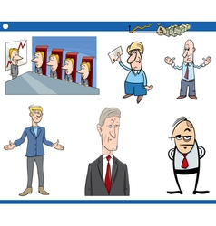 cartoon business set vector image vector image
